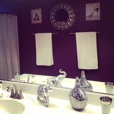 This purple color omg- donu0027t know about using it on my walls, · Silver  BathroomPurple ...