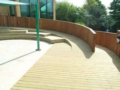 Lovely ramp to a primary school (connects playground to the building).