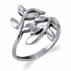 Leaf Sterling Silver Ring Sizes: 2, 3, 4, 5, 6, 7, 8, 9 Happy Apple. $18.00. 925 stamp. sterling silver. Free gift box. sized