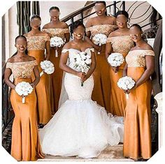 New White Embroidery Gold 2019 Long Bridesmaid robes Dress Aso Ebi Satin Mermaid Off the shoulder Wedding Guest Party Evening Formal Dress African Bridesmaid Dresses, African Wedding Attire, Yellow Bridesmaid Dresses, Wedding Bridesmaid Dresses, Royal Blue Bridesmaids, Lace Bridesmaids, Bridal Dresses, Lace Styles For Wedding, Wedding Tips