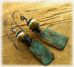 Boho Southwestern Earrings Rustic Copper Jewelry by ChrysalisToo, $36.00