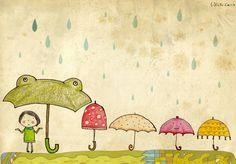 Umbrella party.
