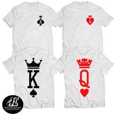 (King & Queen) Couples t Shirts, Lovers t Shirts, Matching Shirts, Valentines Day Gifts, Anniversary Gifts Source by xtraordinarygear painting Cute Couple Shirts, Matching Couple Shirts, Matching Couples, King Queen Shirts, King Shirt, T-shirt Paar, Valentines Day Shirts, Personalized T Shirts, Custom T