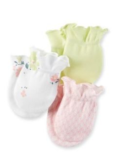 Carters  3-Pack Floral Mittens