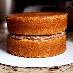 Beginner tips for stacking a layer cake, and recipe for vanilla buttermilk cake…