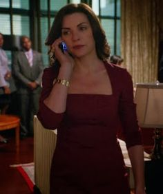 """Alicia's The Row Gammner Dress The Good Wife Season 5, Episode 3: """"A Precious Commodity"""" - Spotted on TV"""
