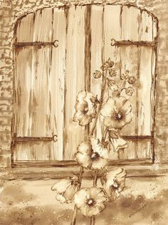 Malwy - watercolour painted with coffee - Maria Roszkowska