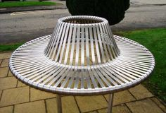 Blueton Limited - The new name in street furniture - Ref 073 Circular Stainless Steel Seating