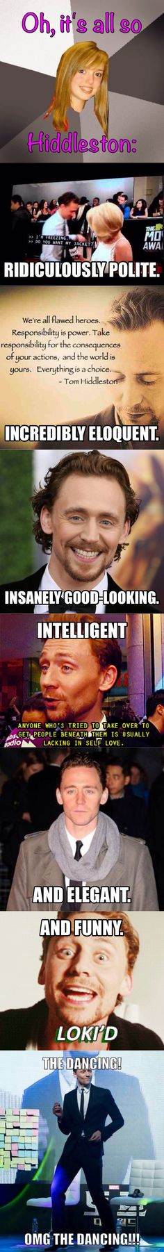 Why we love Tom Hiddleston. <--- only a few of the many many reasons