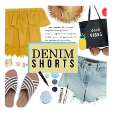"""Denim Cutoffs Contest"" by jafashions ❤ liked on Polyvore featuring Terre Mère, T By Alexander Wang, Topshop, Madewell, Lands' End, Venus, Miss Selfridge, Michael Kors, Bare Escentuals and Urban Decay"