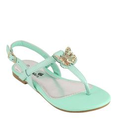 c6f7255871ce Anna Shoes Mint Butterfly T-Strap Sandal by Anna