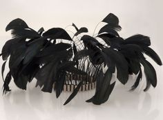 MELIO - Contemporary Jewelry Melio Jewels ~ FEATHER BANGLE , blue-black feathers , silver #silver #bangle #feather #melio_jewels