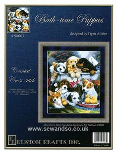 Buy Bath-Time Puppies Chart Booklet online at sewandso.co.uk