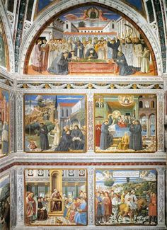 View of the Right Hand Wall of the Chapel, 1464-1465 - Benozzo Gozzoli