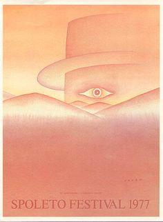 JEAN-MICHEL FOLON poster print Spoleto Festival 1977