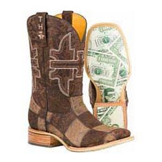 "Mens Million Dollar Check 11"" Cowboy Boots Item # 42374"