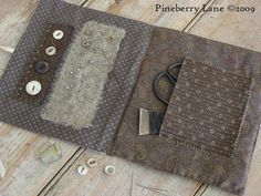 Anne Lancaster's Needle Book pattern, inspired by a pocket sampler stitched in an orphanage in the early 1800s.