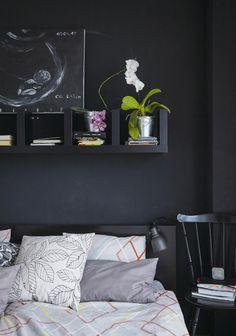 Ikea 'Lack' shelf in black