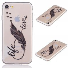 16 best to buy images cell phone accessories, cell phone casesultra thin black feathers painted pattern soft tpu slim crystal clear shockproof cover silicone rubber gel