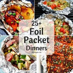 Camping dessert recipes are likewise enjoyable and simple for kids to make, and the whole household enjoys eating them. Have a preferred family outdoor camping recipe that the kids enjoy to cook. Tin Foil Dinners, Foil Packet Dinners, Foil Pack Meals, Foil Packets, Hobo Dinners, Easy Dinners, Quick Meals, Camping Dishes, Camping Meals