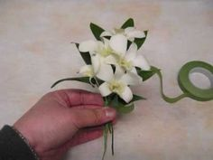 How to make a Orchid Corsage for Wedding or Prom