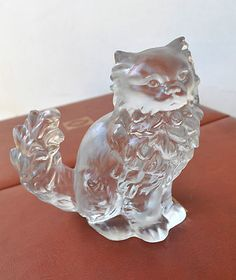"""Goebel Crystal Cat Figurine Statue 7"""" 3kg Gorgeous Flawless RARE Made in Germany 