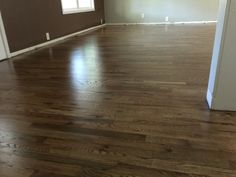 No more orange floors! I wanted a rustic light wash, so the beautiful wood grain would show through. The wood is Red Oak #2, and here's the recipe using all Bona brand stains: ½ neutral poly ¼ grey ¼ jacobean With 3 coats satin poly finish