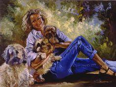 Portrait Ellen with Dogs