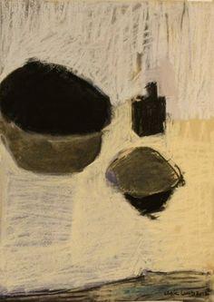 유 Still Life Brushstrokes 유 Nature Morte Painting by Chloe Lamb   Bowls and a Bottle