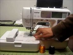 Good Look- Embroidery set up on the Brother SE400 Embroidery and Sewing Machine (beginner) - YouTube