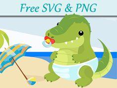 Newborn crocodile free svg design homepage