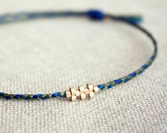 New Shiloh Braided Version / Friendship Bracelet with Gold Weave Pattern - Choose your colours