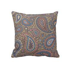 Beige Rose Paisley Pillow #zazzle #throwpillows #pillows