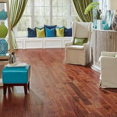 Home Legend Hand Scraped Hickory Tuscany 3/8 in. T x 4-3/4 in. W x Varying Length Click Lock Hardwood Flooring(24.94sq.ft/cs)-HL61H - The Home Depot