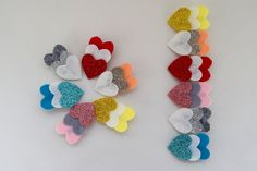 Felt Glitter Heart Trio hairclip Mini heart headband Heart Nylon Headband Birthday gift Easter gift Newborn headband by RudensAccessories on Etsy Hair Ribbons, Diy Hair Bows, Troll Party, Felt Hair Clips, Mini Heart, Glitter Hearts, Newborn Headbands, Easter Gift, Diy Hairstyles