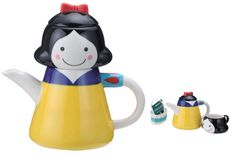 """Snow White"" Tea for One - comes with a tea cup, a matching tea strainer inside, and a little basket that you can put your tea bags in"