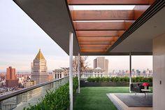 Imagens da bela arquitetura de um apartamento em Nova York.