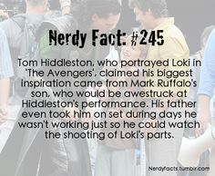 If I was able to be on the set of 'The Avengers', I would be too busy following Robert Downey Jr. around to notice Tom Hiddleston!