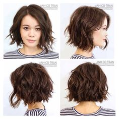 Summer 2018 Hair Color and Style Trends - Get Your Beauty - Frisuren - Haarfarben Medium Hair Styles, Curly Hair Styles, Hair Medium, Choppy Bob Hairstyles, Celebrity Hairstyles, Teen Hairstyles, Pixie Haircuts, Short Hair Cuts For Women, Short Cuts