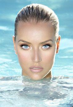 Natural makeup... fresh flawless skin, glow, focus on eyes