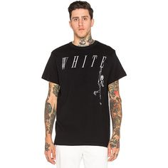 OFF-WHITE Losing Shoes Tee T-Shirts (1.435 VEF) ❤ liked on Polyvore featuring men's fashion, men's clothing, men's shirts, men's t-shirts and graphic tees