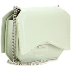 Givenchy Bow Cut Leather Shoulder Bag (16.533.955 IDR) ❤ liked on Polyvore featuring bags, handbags, shoulder bags, shoulder handbags, bow shoulder bag, green leather handbag, green handbags and givenchy handbags