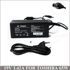 3.42A 65W AC Adapter Laptop Charger Plug For Ordenador Portatil Toshiba Satellite PA3714E-1AC3 C600 R700 L600 L730 L755 L755D