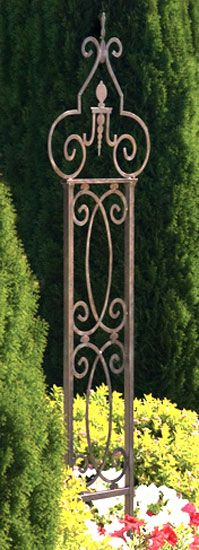 Old World Iron Trellis by H. Potter