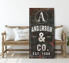 art family Family Name Sign Last Name Established Signs Gift for Her Rustic Farmhouse Wall Decor Personalized Signs Modern Name Sign Canvas Print Art Established Sign, Decor, Wall, Farmhouse Wall Decor, Farmhouse Art, Family Name Signs, Home Decor, Rustic Farmhouse, Industrial Wall Decor