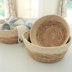 This set of Wicker Baskets by Madam Stoltz is a storage god send. Use them anywhere to store socks, hats, toys, bits & bobs, plants or just to add texture.