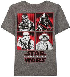 Boys 4-7 Star Wars: Episode VII The Force Awakens Kylo Ren, BB-8 & Chewbacca Tee