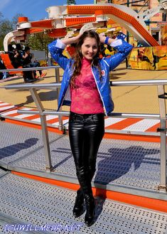 Ricci Tauscher in vinyl jacket and leather pants Models, Jeggings, Hot, Leather Pants, Jackets, Fashion, Templates, Leather Jogger Pants, Down Jackets