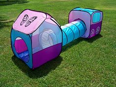 Kids 2 Piece Play House Tent and Tunnel Toy Indoor u0026 Outdoor Child Pop up Tunnel Tent House by Hide-n-Side | Kids Indoor Play For Sale | Pinterest ... : kids pop up tent with tunnel - memphite.com