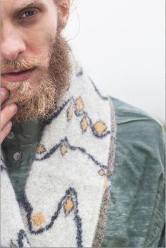 'Icelandic Horizon' Boiled Wool Scarf - 100% Shetland Wool Suzanna James Knitwear Photo Credit: Matt Honey Photography